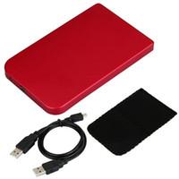 pc harici sabit diskler toptan satış-SERBEST SÜRÜCÜ 2.5 IDE HDD USB 2.0 için toptan-YOC-EXTERNAL CASE [PC]