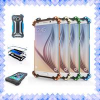 Wholesale Bumper Iphone Aluminum Orange - R-JUST Metal Aluminum Cellphone Case Transformer Carbon Fiber Gundam Bumper Case cover for iPhone 5 6 6s 7 Plus S7 Edge