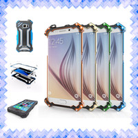 Wholesale Carbon Fiber Aluminum Case - R-JUST Metal Aluminum Cellphone Case Transformer Carbon Fiber Gundam Bumper Case cover for iPhone 5 6 6s 7 Plus S7 Edge