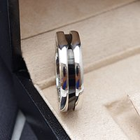 Wholesale Mark Side - Bulgaria Fashion Charitable Style Black Ceramic Rings, Platinum Plated Titanium Stainless steel with Red mark Women  Men Jewelry