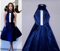 online shopping Midi Satin Dress - The new spring and summer 2017 Qi Wei Wang Luodan star with a dress evening banquet dating party dress female