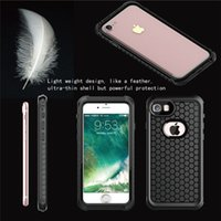 Wholesale Defender Plastic Case For Iphone - 100% Waterproof Phone Case for Iphone 7 Samsung S8 Ultral Thin for Shock proof defender cases cover Retail boxes Iphone accessories