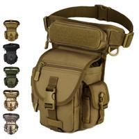 pez móvil al por mayor-Paquete de la cintura de alta calidad al aire libre táctico gota bolsa de la pierna equipo militar bolsillos de múltiples colores de pesca opcional bolsas móviles 55dn F