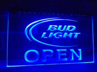 LA025b- Bud Luz Cerveza Abierto Bar LED Neon Light Sign