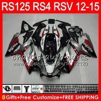Wholesale 125 Fairing - Injection For Aprilia RS4 RSV125 RS125 12 13 14 15 RS125R 12-15 RS-125 Red silvery 72NO4 RS125RR RSV 125 RS 125 2012 2013 2014 2015 Fairing
