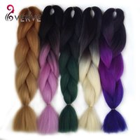 Wholesale High Temperature Fiber Hair Extensions - hot sale Ombre Kanekalon Braiding Hair braid 100g piece Synthetic Two Tone High Temperature Fiber Kanekalon Jumbo Braid Hair Extensions