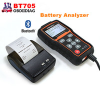 Wholesale Usb Charging System - FOXWELL BT705 BT-705 Battery Analyzer Check Battery Health Detect Faults of Starting & Charging System with Bluetooth Printer