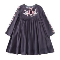 Wholesale Kids Tassels Clothes - Kidsalon Kids Clothes Birthday Dress Christmas Embroidered Girl Party Dress with Tassel Robe Fille Kids Dresses for Girls 2-12T