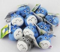 Wholesale anime dolls for sale - Hot sale 10pcs lot My neighbor Totoro Plush Pendants Phone Strap Soft Dolls for kids gift Free Shipping