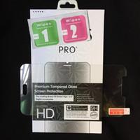 caja de cristal templado xperia 2.5d al por mayor-Para LG V20 V10 K10 K8 Premium Protector de pantalla de vidrio templado para Sony Xperia X, XA, XZ, X Compact, C3, C5, Z5, E5 0.3MM 2.5D 9H Film + caja al por menor