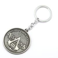 Wholesale Assassins Creed Key - 10 pcs Assassin's Creed Key Chain Assassins Creed 3 Key Rings For Gift Chaveiro Car Keychain Jewelry Game Key Holder Souvenir