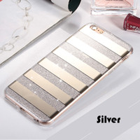 Wholesale Hybrid Cellphone Cases - Mirror Plating Bling Cellphone Case Hybrid Soft TPU PC Glitter Accessories Full Cover Clear Cell Phone Case For iphone 7 iphone 6plus cases