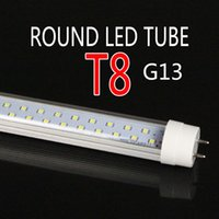 Wholesale T8 Round - New Round design 2.4m 2 rows LED Tube R17D FA8 G13 8FT 2400MM AC85-265V indoor lighting led lamp thick aluminum 20.5mm pcb 72w super bright