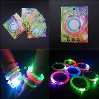 Wholesale Toy Rings Cheap - LED Flash Bracelet Acrylic Luminous Hand Rings Electronic luminous Bracelets Party Festival Toys Gifts Props Cheap Wholesale Free DHL 195