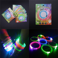 LED Flash Bracelet Acrylique Luminous Hand Rings Electronic lumineux Bracelets Party Festival Jouets Cadeaux Props Cheap Wholesale Free DHL 195