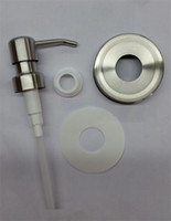 Wholesale Metal Collars - 25 Sets DIY Mason Jar Soap Dispenser Pump Lid And Collar For Mason Liquid lotion Pump HY-013B