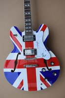 Wholesale Red Electric Guitars - Wholesale-Cheaper Price Good Quality Factory Epiphene 335 Electric Guitar Union Jack Top Free Shipping