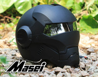 Wholesale automic man DOT Ironman helmet motorcycle motorbike Iron man Masei open face factory black