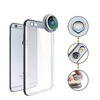 Wholesale Telephoto Camera Case - 3 in 1 Universal Fish Eye Wide Angle Telephoto Smartphone Camera Lens For iPhone 6 6plus iphone 7 Case with iPhone Proof Bumper Case + TPU