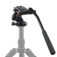 Wholesale Tripods For Video Dslr - KH-6750 Aluminum Photography Video Tripod Head Fluid Drag Hydraulic Head With Handgrip For Canon Nikon DSLR Cameras Camcorder