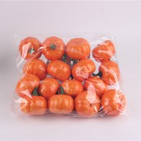 Wholesale Artificial Pumpkins - 16pcs pack 5.5CM Artificial Simulation Pumpkin Fruits Conversion Garden Family Kitchen Kindergarten Handwork DIY Decoration Fruit