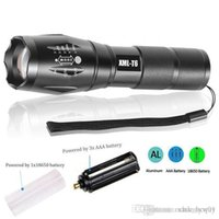 Wholesale T6 Xmlt6 Led - Super High Bright LED Flashlight CREE XMLT6 Water Resistant Camping Torch Adjustable Focus Zoom Tactical Light Lamp for Outdoor Sports