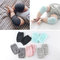 Wholesale Infant Knee Pads Crawling - Baby Socks Soft Kids Anti-slip Elbow Cushion Crawling Knee Pad Infant Toddler Baby Safe Baby Leggings