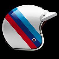 Wholesale Casque Open Face Moto - 2017 Casco para moto france Ruby fiberglass helmet 3 4 open face vintage scooter for harley motorcycle Casque casco capacete