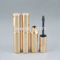Wholesale make up tubes - New arrival 8ml Mascara tubes Gold color Empty revitalash Eyelash Bottles for women DIY make up cosmetic packing container