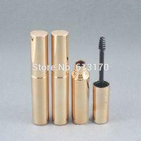 pestañas revitalash al por mayor-Recién llegado de 8 ml tubos de rímel color oro revitalash vacío botellas de pestañas para mujeres DIY maquillaje envase cosmético de embalaje
