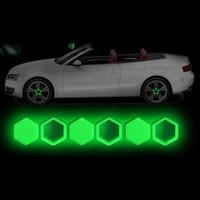 carro de tornillo de ruedas al por mayor-20 unids Gel de sílice Tuercas de rueda verde Cubiertas Tapas de perno protectoras Car Styling Hub Protector de tornillo 17 # 19 # 21 #