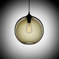 Wholesale Antique Industrial Light Fixtures - Loft Vintage Antique Industrial 6 Color Glass Ball Pendant Lights Fixtures for Kitchen Restaurant Dining Living Room Cafe Bar