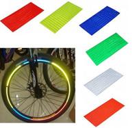 Wholesale Cool Wheels - Reflective stickers bike Cool DIY Bicycle wheel stickers Motorcycle Wheel Rims Reflective Stickers Bicycle accessories 6 COLORS B303-3