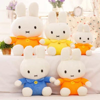 Lovely Miffy Rabbit Bunny Peluche Peluche en peluche 25CM 3PCS / LOT Yellow Blue Orange Color Gifts