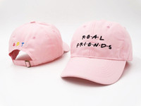 Real Friends Pink Hombres Hombres Snapback Street Fashion Baseball Hip Hop Populares Deporte Casual Casual Casquette Outdoor Summer Headwear PPM