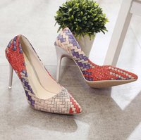 Wholesale Pump Weaves - Sexy Women Weave fight with a single shoe to prepare gradient high-heeled shoes comfortable shoes