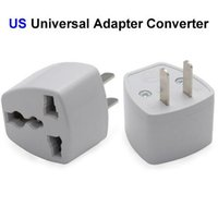 Wholesale Uk Power Plug Sale - 20pcs Hot sale Universal US EU AU UK Plug Adapter Converter AC Travel Power Electrical Socket Outlets