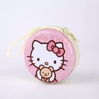 Atacado Hot Kitty Cartoon Candy Color Silicone Moeda Bolsa Carteira Key Earphone Organizer Caixa De Armazenamento Cute Cartoon Money Bag