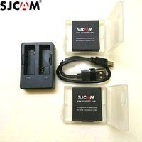 Wholesale rechargable cameras - Wholesale- SJCAM Accessories Original SJ7 Star Batteries Rechargable Battery Dual Charger Battery Case For SJCAM SJ7 Action Sports Camera