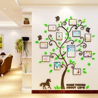 Wholesale Wholesale Acrylic Photo Frames - Mult Size Photo Frame Stickers 3D Wall Stickers Creative Style Design Wall Stickers Decorative Acrylic Decoration