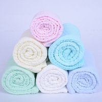 Wholesale 6 Colors Baby Blanket Newborn Baby Bath Towel Cotton Solid Color Blankets Functions Baby Swaddle Blanke