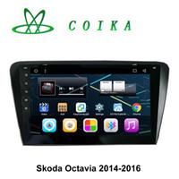 mp4 reproductor de cámara wifi al por mayor-10.2 Receptor de DVD para Android Quad Core para Skoda Octavia 2014-2016 GPS Radio Reproductor multimedia WIFI 3G Red OBD DVR Mapa 3D Entrada de cámara