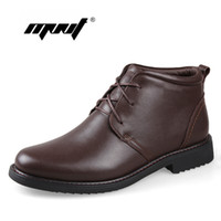 Wholesale Soft Natural Rubber - Wholesale- Plus Size men boots super warm genuine natural leather snow boots Handmade ankle boots for autumn and winter shoes