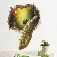 Wholesale Gardening Posters - Peacock Wall Stickers Decal Home Decor Wall Mural Poster Secret Garden Living Room Study Wall Paper Art DIY Home Decor