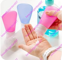 Wholesale Chinese Blue Point - 3Size Travel Portable Silicone Refillable Bottles Traveler Packing Lotion Points Shampoo Container Press Bottles