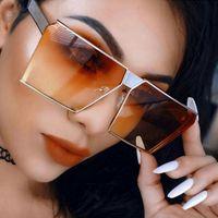 Wholesale frameless eyeglass frames - Wholesale- WISH CLUB Brand 2017 New Color Women Sunglasses Oversize Vintage Eyeglasses Frames Glasses For Women gafas UV400 Oculos de sol