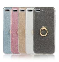 Wholesale Iphone Case Shimmering - Hot sale High permeability shimmering powder all inclusive Anti-knock TPU back cover with ring holder for iphone X