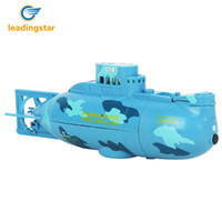Wholesale Large Electric Rc Boats - Wholesale- Leadingstar RC Water Boat 6CH Speedboat Model High Powered 3.7V Toy Boat Plastic Model Large RC Submarine Outdoor Toys