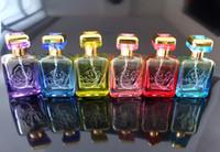 ingrosso gli ugelli della bottiglia di profumo-Wholesale- 30ML bottiglie di profumo di vetro piano quadrato rotondo spruzzo di spruzzo dell'ugello colorato bottiglia di cosmetici