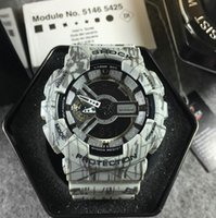 Wholesale Running Calendar - Wholesale Cheap Ga 110 sports men watches Led Digital Shockproof running g110 male wristwatch Autolight Drop Ship